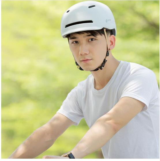 Helmet For Electric Scooter With Back Lights - White L - Scooter