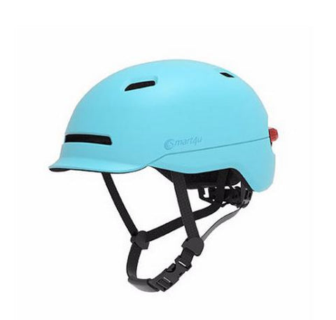 Helmet For Electric Scooter With Back Lights - Blue M - Scooter