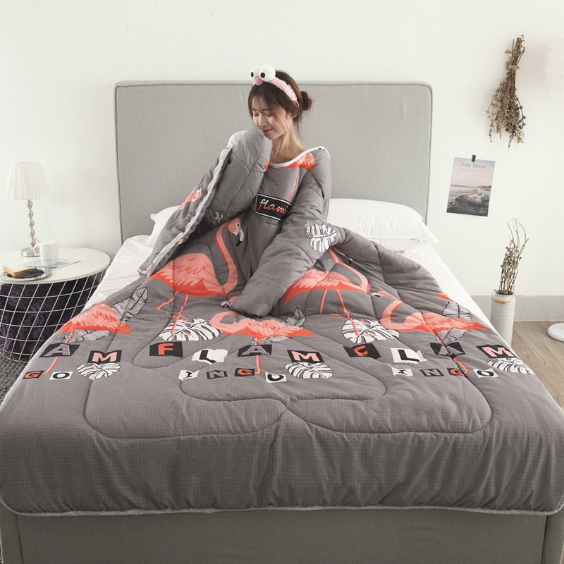 Winter Lazy Quilt With Sleeves - Lazyquilt