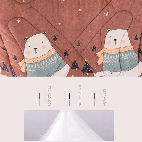 Image of Winter Lazy Quilt With Sleeves - Lazyquilt