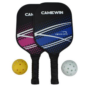 Ensemble de raquettes de pickleball Composition en fibre de carbone Noyau PE en nid d'abeille 2 Pickleballs 2 Pickleball Paddle
