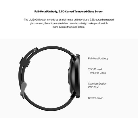 Image of UMIDIGI Uwatch Smart Watch Heart Rate Sleep Monitor Bracelet Smartwatch Bluetooth Waterproof Sport Smartwatch for Android iOS