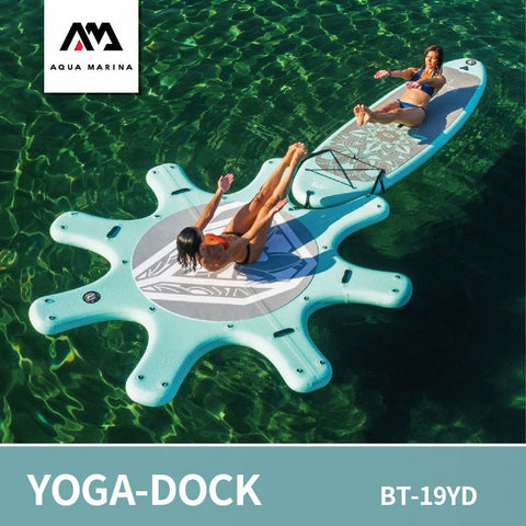 Image of AQUA MARINA Yoga-Dock Sup Board DHYANA Yoga Surfboard Stand Up Paddleboard Aquatic Yoga Sports Board Platform 290cm
