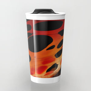 Travel Mugs - Red & Black - Travel Mug