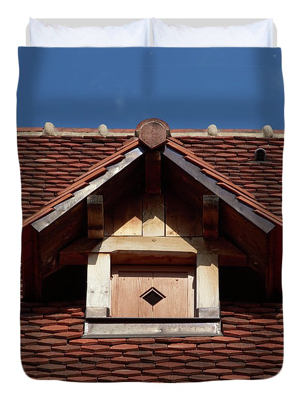 Roof In #france - Duvet Cover - Full - Duvet Cover