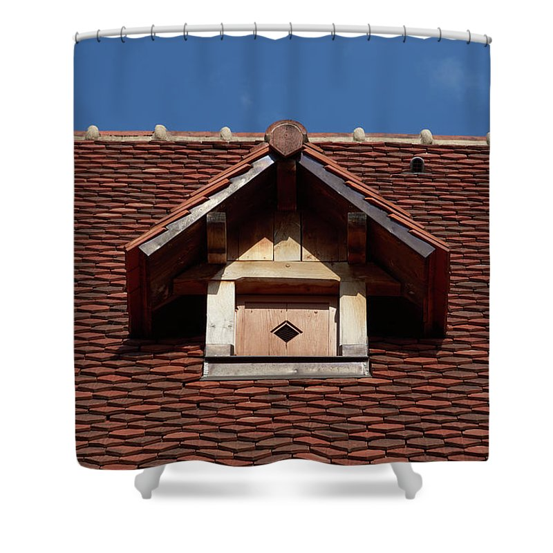 Roof In #france - Shower Curtain - 71 X 74 Standard - Shower Curtain