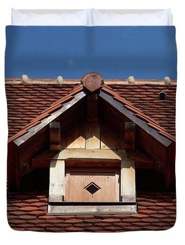 Image of Roof In #france - Duvet Cover - Queen - Duvet Cover