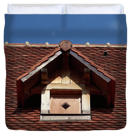 Image of Roof In #france - Duvet Cover - King - Duvet Cover