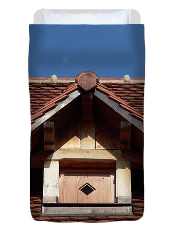 Image of Roof In #france - Duvet Cover - Twin - Duvet Cover