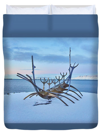 Image of Solar Voyager In Iceland - Duvet Cover - Queen - Duvet Cover