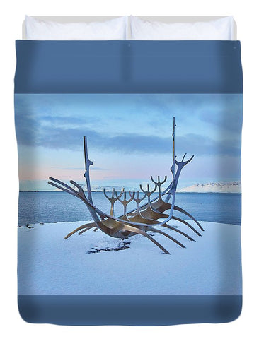 Image of Solar Voyager In Iceland - Duvet Cover - Full - Duvet Cover