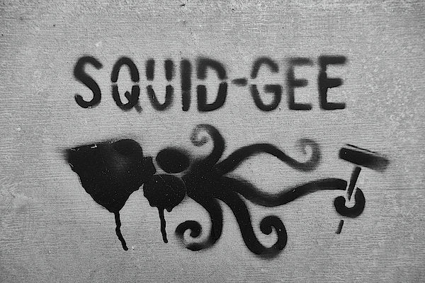 Squidg-Gee Funny - Reproduction d'art - 8.000 X 5.375 / Archival Matte Paper - Reproduction d'art