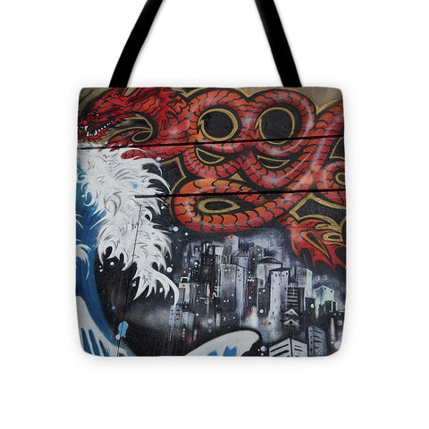 Image of The Big Wave - Tote Bag - 16 X 16 - Tote Bag