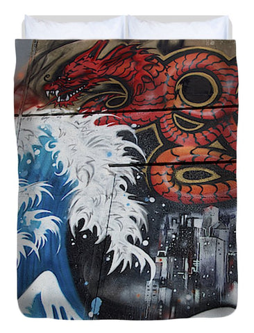 Image of The Big Wave - Duvet Cover - Full - Duvet Cover