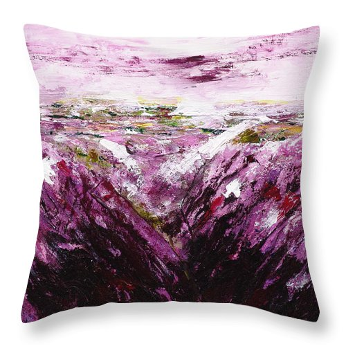 The Smell Of Lavender - Throw Pillow