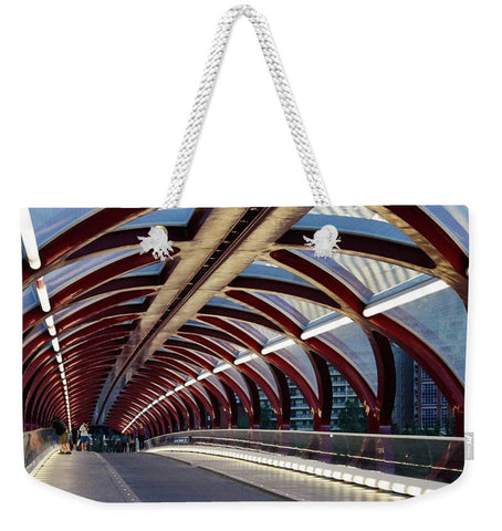Image de The Tunnel - Sac fourre-tout Weekender - 24 X 16 / Blanc - Sac fourre-tout Weekender