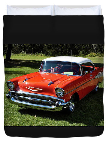 Image of Vintage Car - Duvet Cover - Queen - Duvet Cover