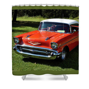 Vintage Car - Shower Curtain - 71 X 74 Standard - Shower Curtain