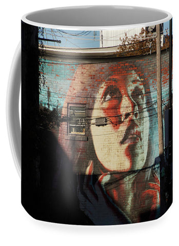 Woman On The Wall - Mug