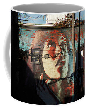 Woman On The Wall - Mug - Small (11 Oz.) - Mugs