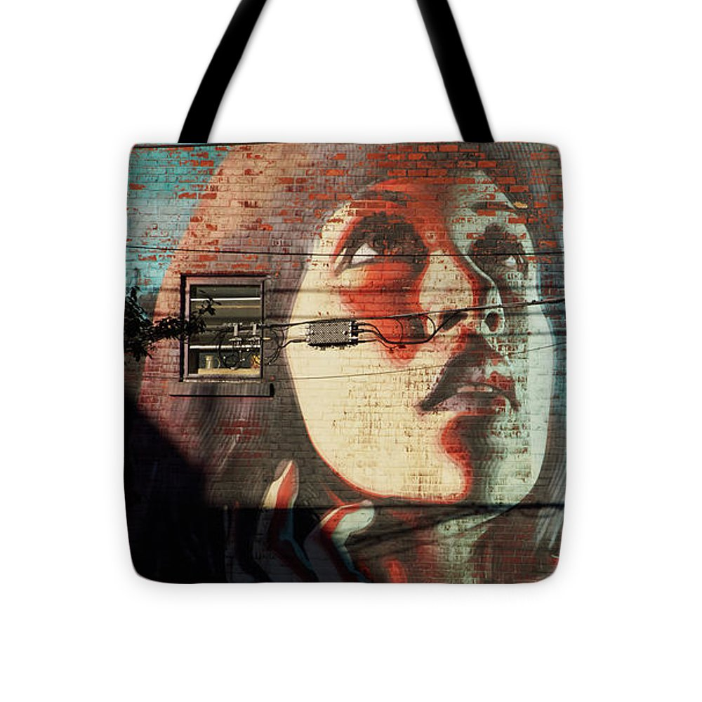 Woman On The Wall - Tote Bag - 16 X 16 - Tote Bag