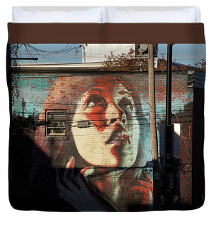 Woman On The Wall - Duvet Cover - King - Duvet Cover