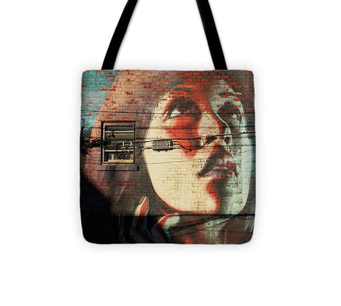 Image of Woman On The Wall - Tote Bag - 13 X 13 - Tote Bag