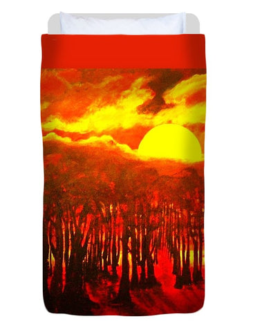 Wood End Of The Day - Duvet Cover