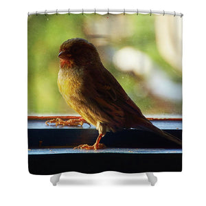 Yellow Bird - Shower Curtain