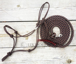 Custom Rope Halter & Lead Rope Handmade by Elk Hollow Designs