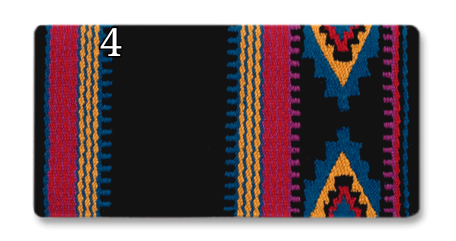 Mayatex Firecracker Wool Saddle Blanket - 36x34