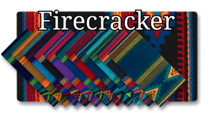 Mayatex Firecracker Wool Saddle Blanket - 36x34 - Elk Hollow Designs