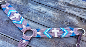 """Trinity"" Mohair Breast Collar - Elk Hollow Designs"