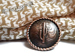 Cactus Antique Copper Wild Rag Slide - Elk Hollow Designs