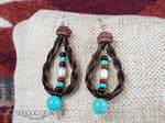 Braided Horse Hair Loop Earrings - Elk Hollow Designs