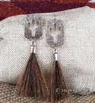 Cactus Horse Hair Tassel Earrings - Elk Hollow Designs