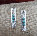 Turquoise Arrow Earrings - Elk Hollow Designs