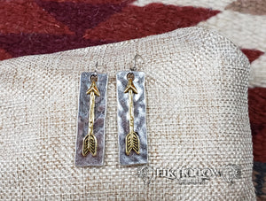 Silver and Gold Arrow Earrings - Elk Hollow Designs