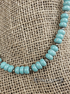 Beaded Turquoise Necklace - Elk Hollow Designs