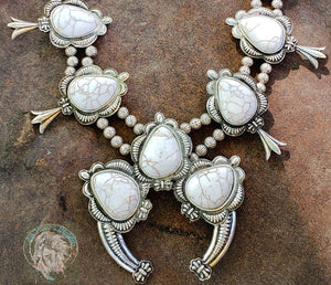 Nala Squash Blossom Necklace - Elk Hollow Designs