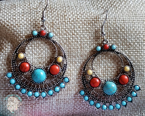 Desert Sunrise Tribal Earrings - Elk Hollow Designs