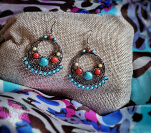 Desert Sunrise Tribal Earrings