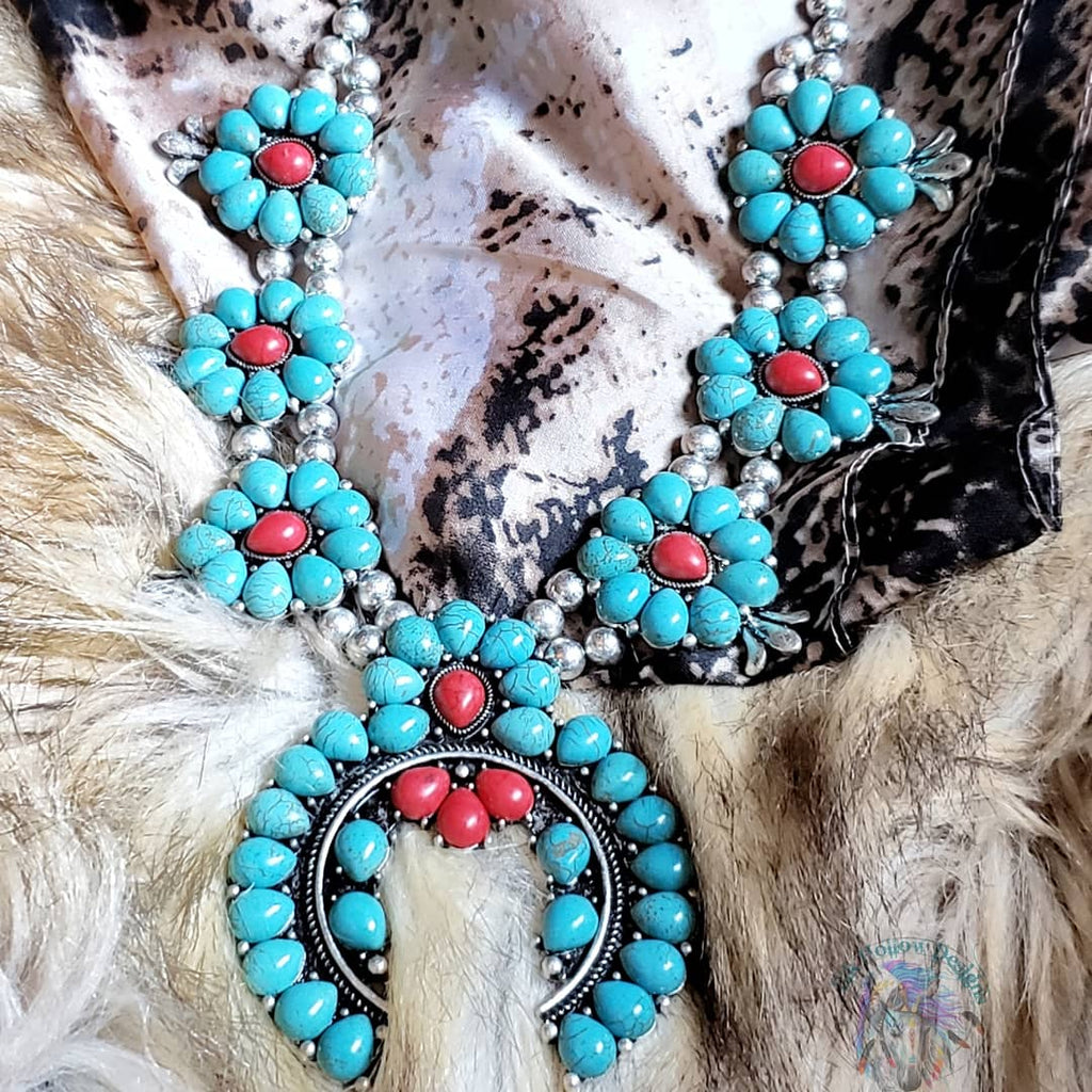 Callie Squash Blossom Statement Necklace - Elk Hollow Designs