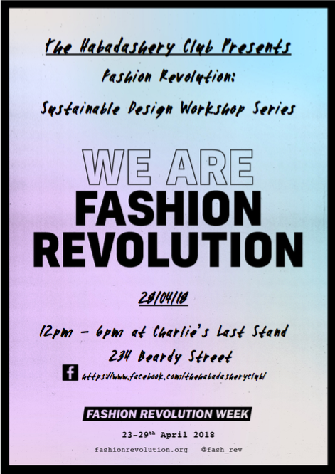 Fashion Revolution: Sustainable Design Workshop Series