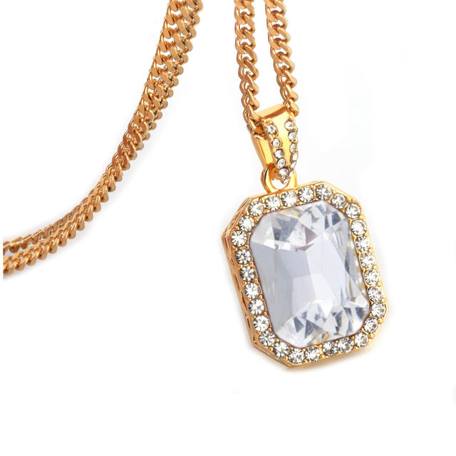Iced out gem pendant chain subzerogold iced out gem pendant chain aloadofball Gallery