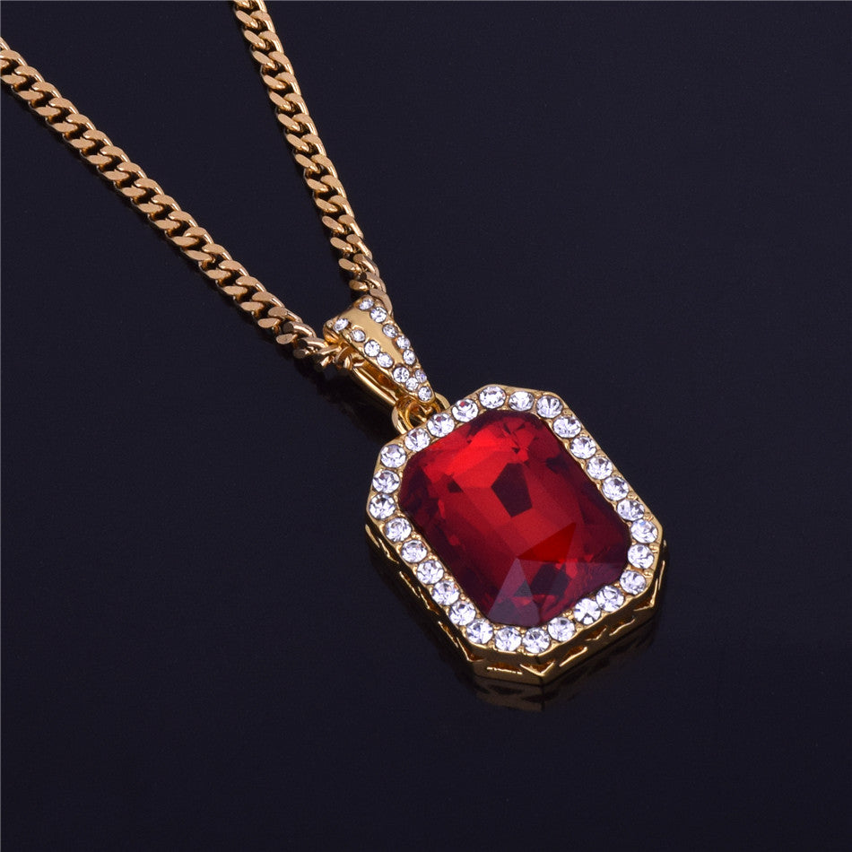Iced out gem pendant chain subzerogold iced out gem pendant chain aloadofball Image collections
