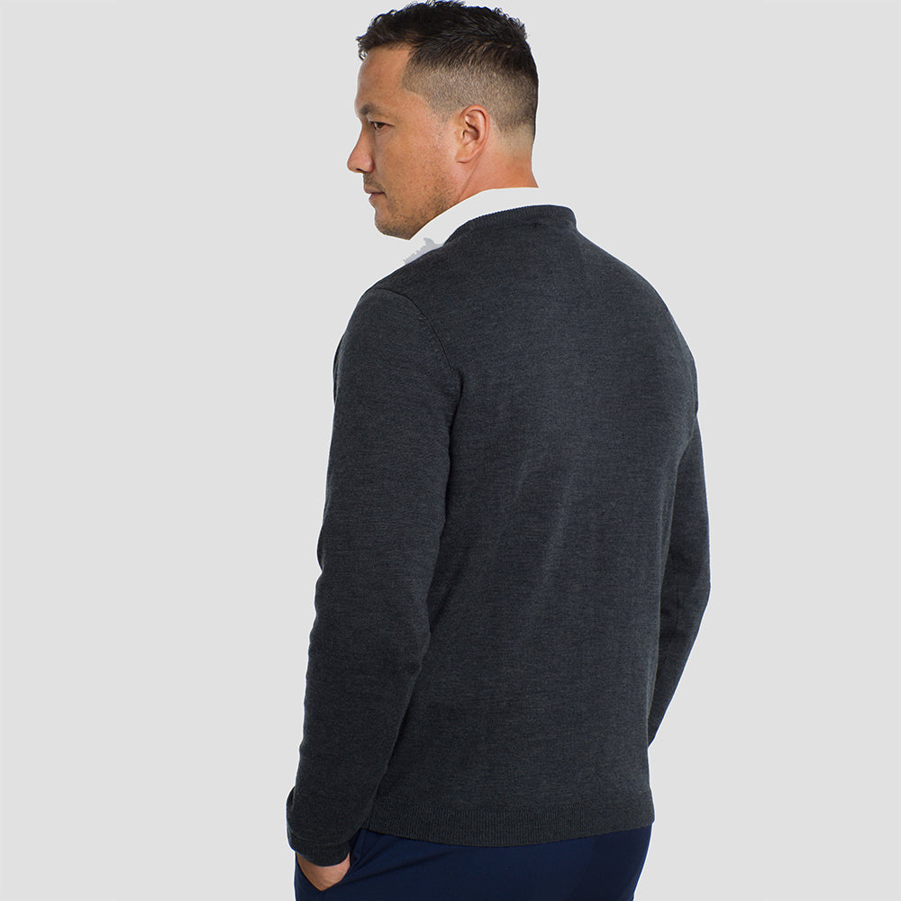 Charcoal Grey Crew Neck Premium Merino Sweater