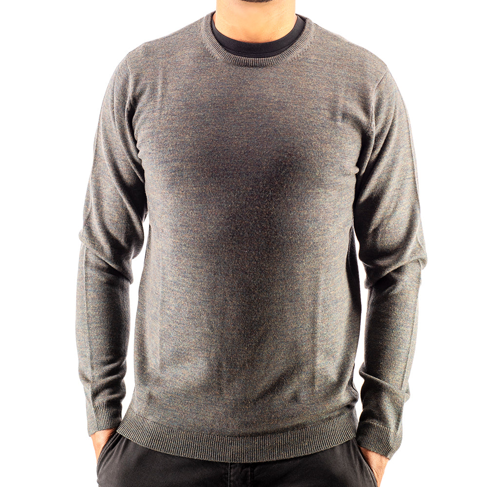 Hunter Green Crew Neck Premium Merino Sweater