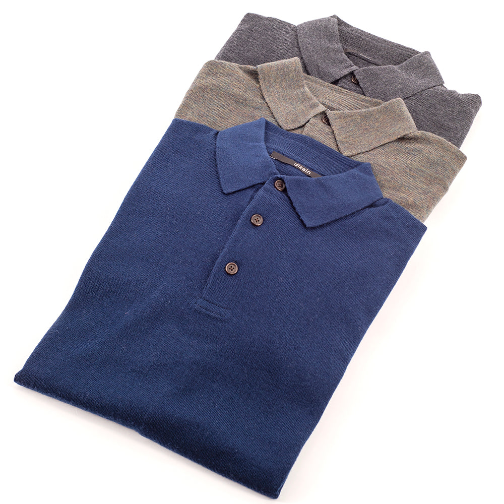 Dark Navy Premium Merino Polo
