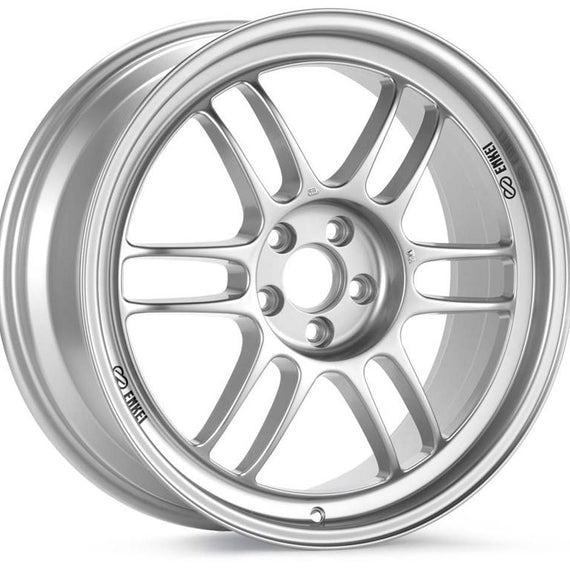 Enkei RPF1 18x9.5 5x114.3 15mm Offset 73mm Bore Silver Wheel 350z/G35